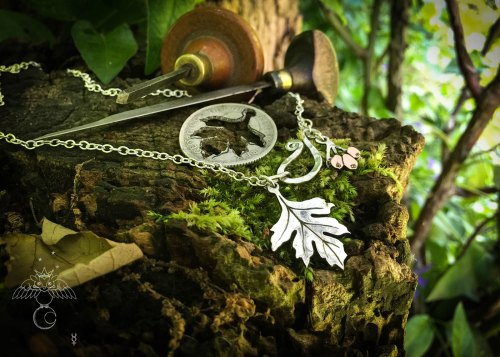 Hawthorn leaf necklace pendant handcrafted and recycled silver florin coin Hawthorn leaf leaves necklace