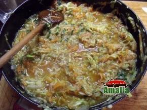 Mancare de pui cu sos de dovlecei 5