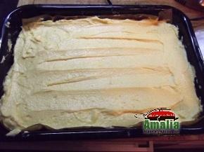 Prajitura cu branza, crema si nuca  3
