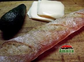 Bagheta cu avocado si mozarella 2