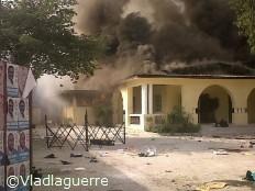 Haiti - Elections : Le QG d'INITE part en fumée...