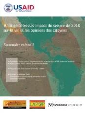 Haïti - Social : Impact du 12 janvier sur la vie et les opinions des citoyens - Partie II