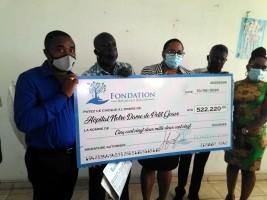 iciHaïti - Petit-Goâve : Don de la Fondation Réginald Boulos à l'hôpital Notre-Dame