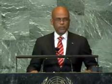 Haïti - Politique : Martelly à l'ONU - Discours