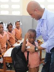 Haïti - Éducation : Tournée du Président Martelly à Hinche