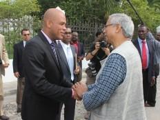Haïti - Économie : Michel Martelly, rencontre Muhammad Yunus