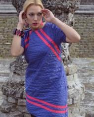 Hajdučica Clothing – Online Store – Ljubičasta asimetrična haljina The Blow Up