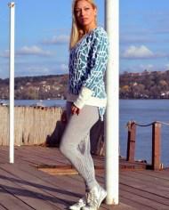 -Hajdučica Clothing – Online Store-Footloose duks od zanimljive šarene trikotaže i pamuka