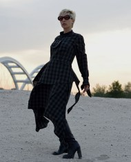 gorgeous women dress, asymmetrical dress, industrial dress, cotton dress, handmade dress, artistic, British