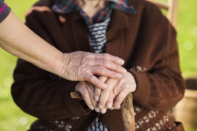 Pfleger und Senior