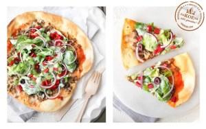 Zelfgemaakte taco pizza