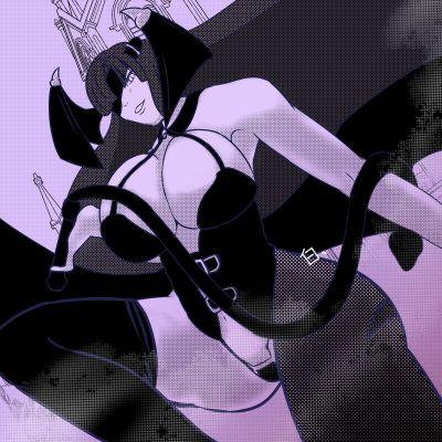 このイラストの影の部分はエアブラシやブラシツール(半透明)使ってトーンを削っている