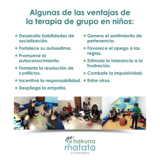 Ventajas de la terapia grupal para niños