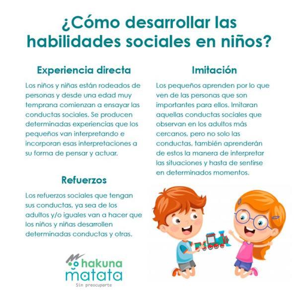 Como desarrollar habilidades sociales en los niños