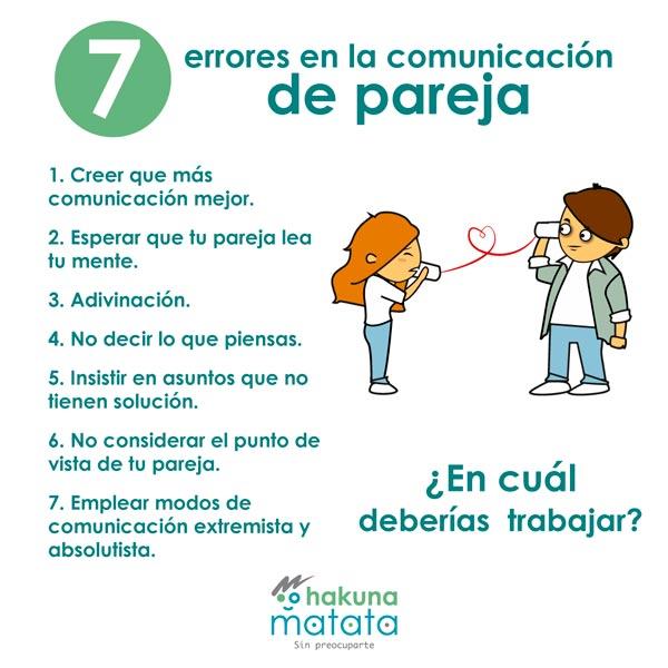 7 errores de la falta comunicación en pareja