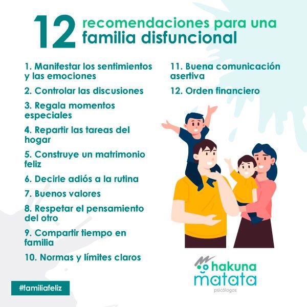12 recomendaciones para una familia disfuncional
