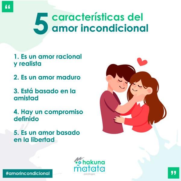 Características y señales del amor incondicional