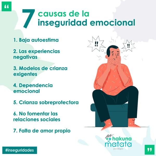 Causas de la inseguridad emocional