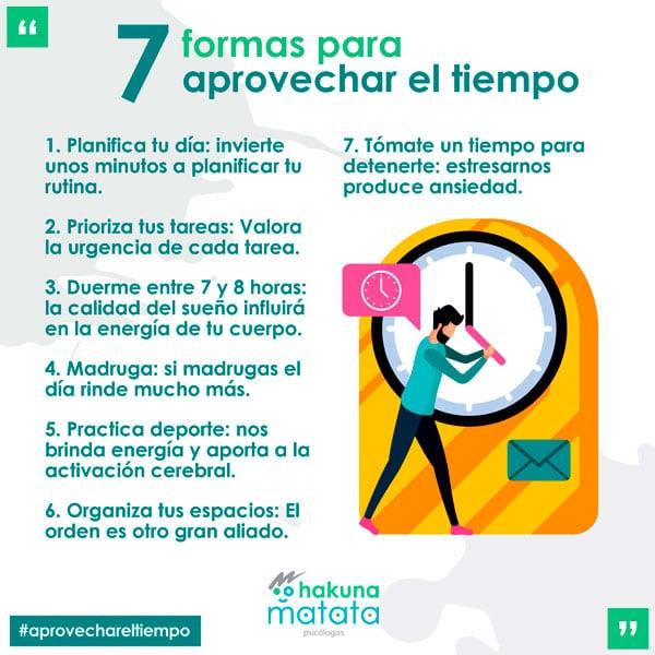 7 formas de aprovechar el tiempo
