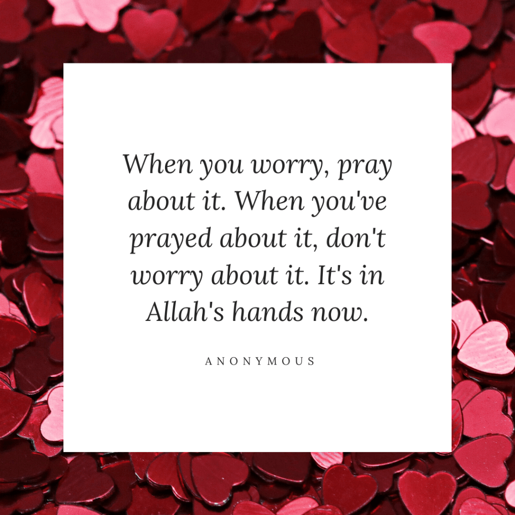 worry pray quote