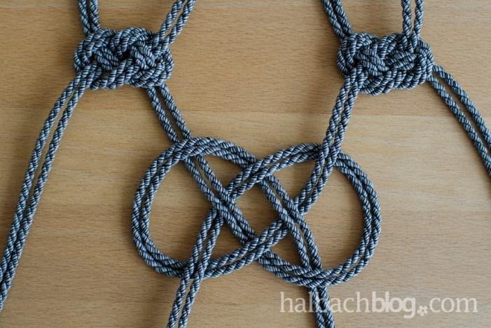 DIY-Idee halbachblog: Step-by-Step-Anleitung für Hängeampeln, mehrere Seemannsknoten