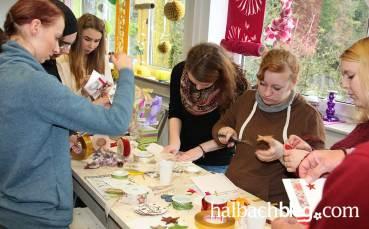 halbachblog I Betriebsbesichtigung in Weberei und Ausstellung und Kreativ-Workshop