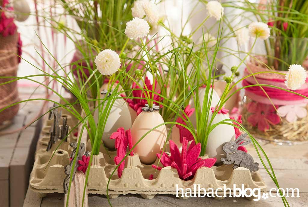halbachblog: Oster-Deko I Ideen-Sammlung I bepflanzte Eier