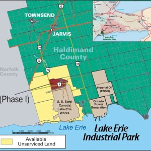Map Diagram of Lake Erie Industrial Park