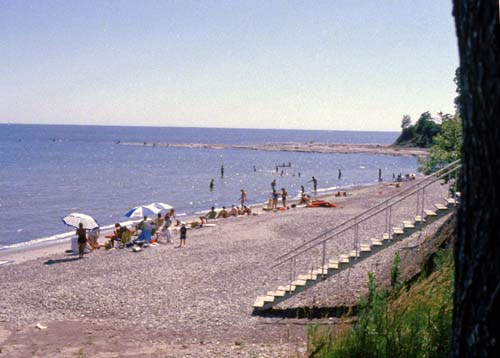 A hot summer day brings many Haldimand County residents to the beach