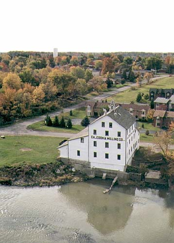 The old mill stands as a monument to simpler times along the Grand River