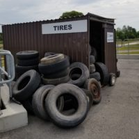 Canborough tire bin