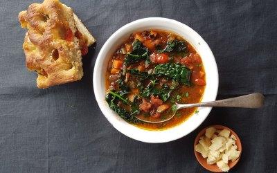 Smoked Lentil + Tomato Stew with Cavolo Nero