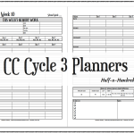New! CC Cycle 3 Planners!
