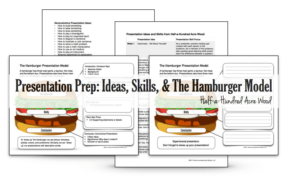 Presentation Prep: Skills, Ideas, and the Hamburger Model