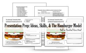Presentation Prep: Skills, Ideas, and the Hamburger Model