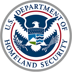 Department of Homeland Security Logo, Featured Client 8 of 9