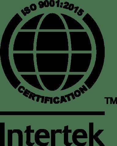 ISO 9001:2015 Certification, provided by Intertek