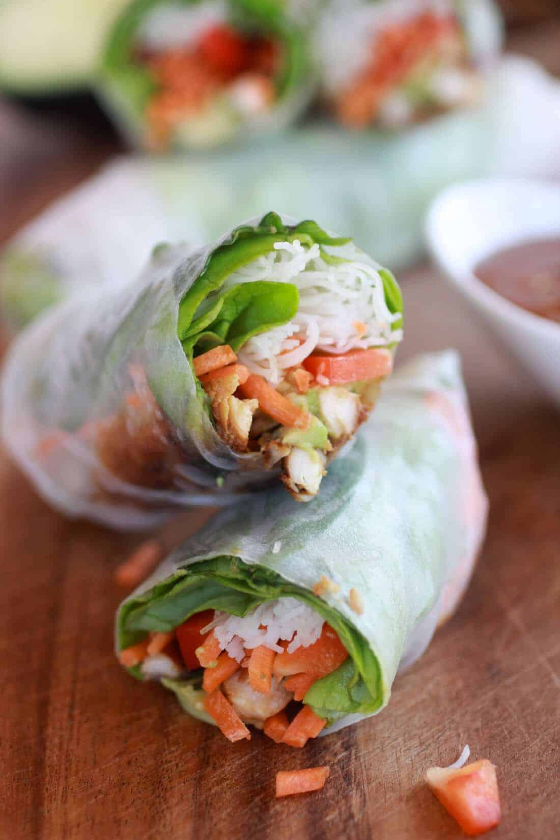 Avocado and Chicken Spring Rolls-6