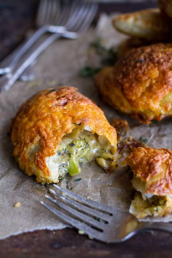 Extra Flakey Broccoli Cheddar Soup Mini Pies   halfbakedharvest.com @hbharvest