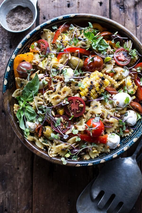 Everything But the Kitchen Sink Pasta Salad | halfbakedharvest.com @hbharvest
