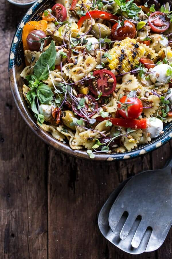 Everything But the Kitchen Sink Pasta Salad | halfbakedharvest.com @hbharvest