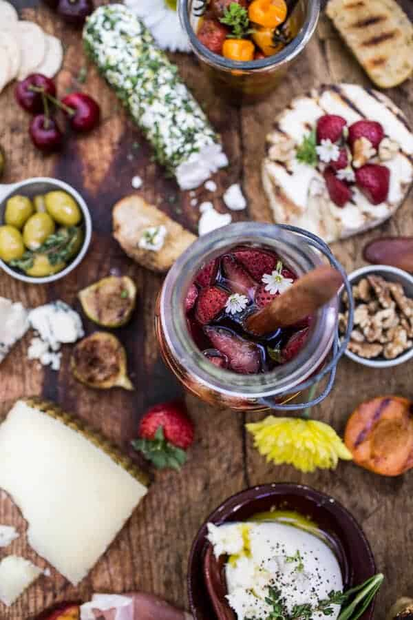 How to make a Killer Summer Cheeseboard (with Pickled Strawberries + Herb Roasted Cherry Tomatoes!)   halfbakedharvest.com @hbharvest