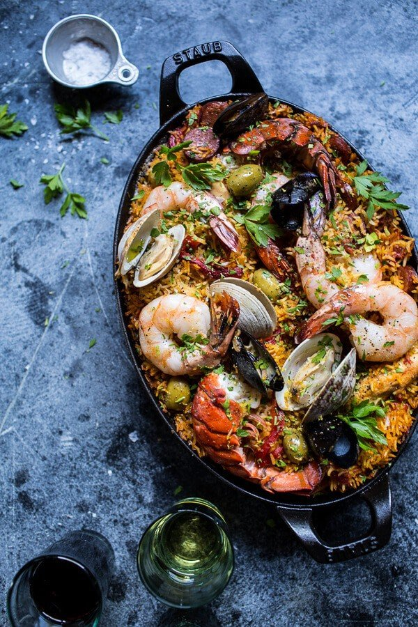 Skillet-Grilled-Seafood-and-Chorizo-Paella-1.jpg (600×900)