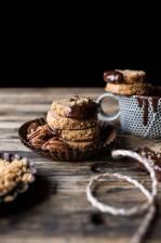 Slice N Bake Vanilla Brown Butter Pecan Cookies...Dipped in Chocolate.