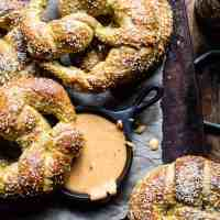 Pumpkin Beer Pretzels with Chipotle Queso + Video