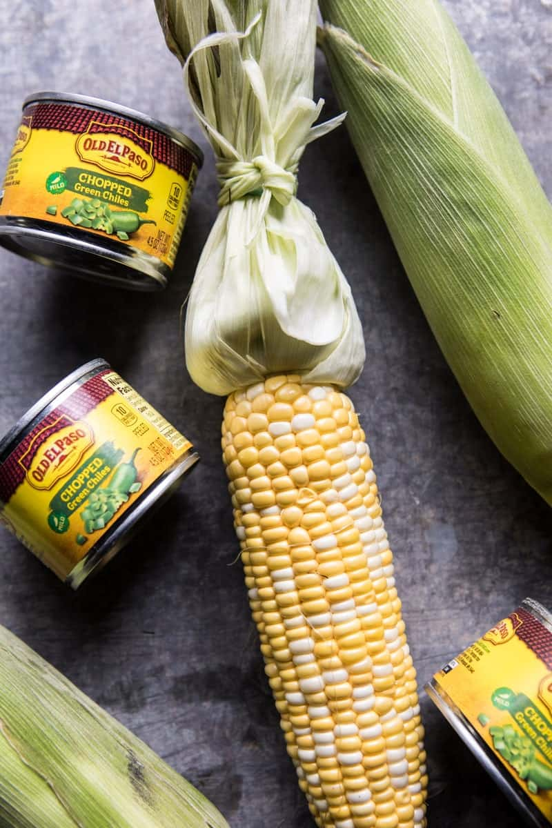 Mexican Grilled Corn with Green Chile Honey Butter