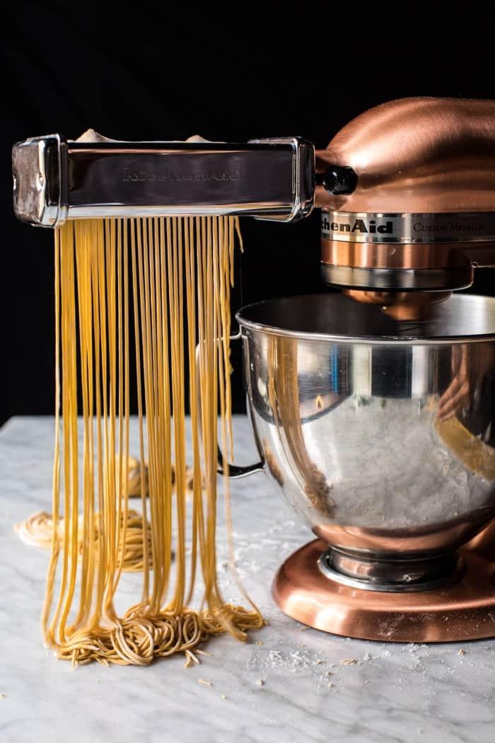 2 Ingredient Pumpkin Pasta with Balsamic Sage Brown Butter Sauce | halfbakedharvest.com @hbharvest
