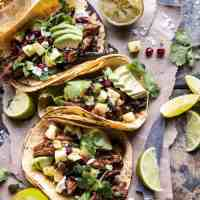 Instant Pot Spicy Pineapple Chicken Tacos.