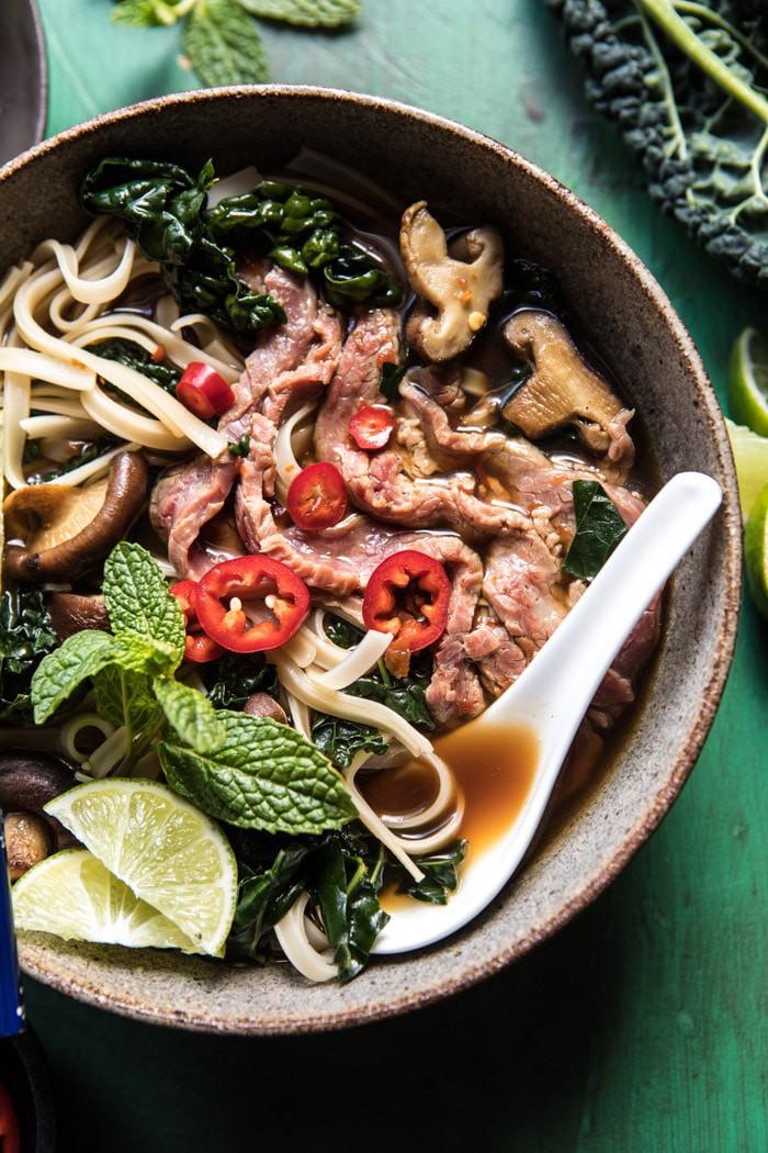 Quick Cleansing Kale and Mushroom Pho | halfbakedharvest.com @hbharvest