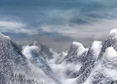 Mountain Terrain with Clouds (3D ART)